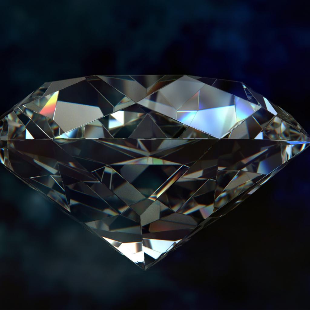 diamante trabajado y pulido